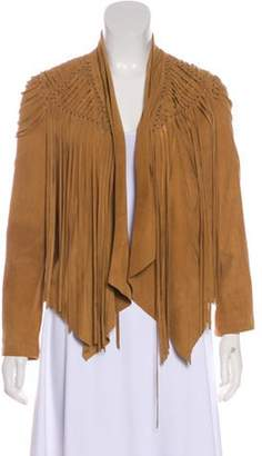 Haute Hippie Suede Drape-Front Jacket Suede Drape-Front Jacket