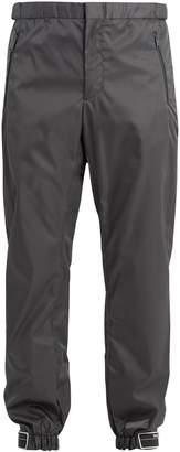 Prada Slim-leg Velcro-cuff nylon trousers