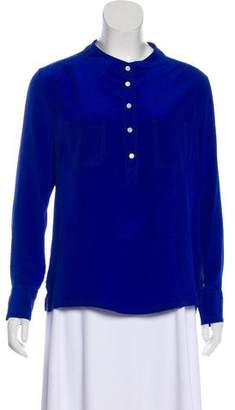 Barneys New York Barney's New York Silk Long Sleeve top
