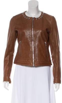 Ikks Studded Leather Jacket