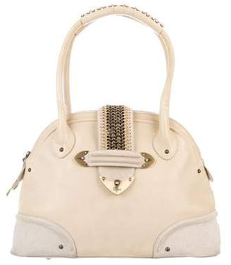 Christian Dior Leather Bowler Bag Tan Leather Bowler Bag