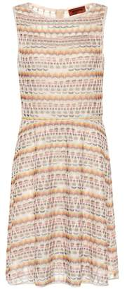 Missoni Striped stretch-silk minidress