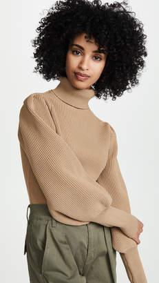 ENGLISH FACTORY Turtleneck Ribbed Sweater