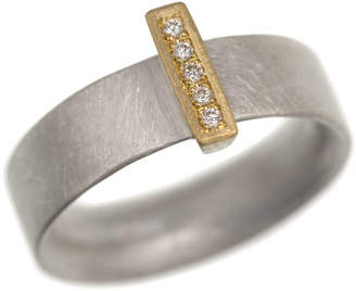 Linea Natalie Jane Harris Contemporary Jewellery Silver And 18ct Gold 'Linea' Rings