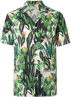 Gieves & Hawkes short-sleeve print shirt