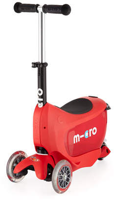 Micro Kickboard Mini2Go Deluxe Ride-On & Scooter, Red