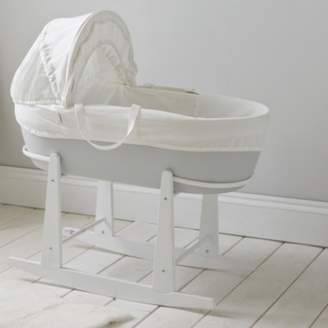 The White Company Moses Basket Rocking Stand, White, One Size
