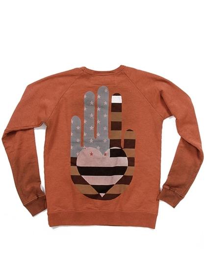 Freecity Friend Helping Hand Raglan Pullover Sweatshirt