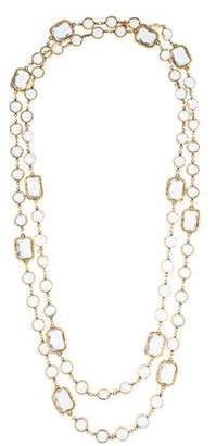Chanel Crystal Chicklet Sautoir Necklace