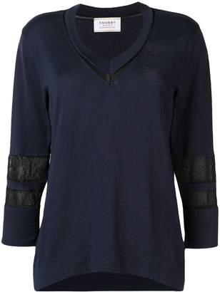 Snobby Sheep mesh panel blouse
