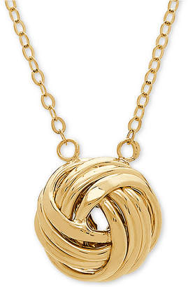"""Macy's Love Knot 18"""" Pendant Necklace in 14k Gold"""