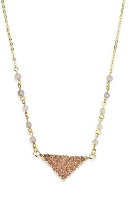 Saachi Druzy Triangle Necklace