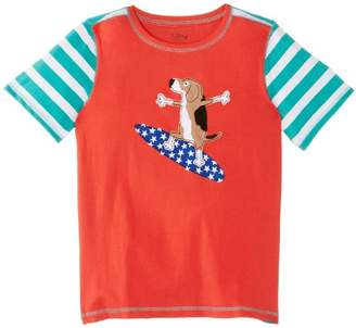 Hatley Boy's Graphic Peached Jersey Surfing Dogs T-Shirt