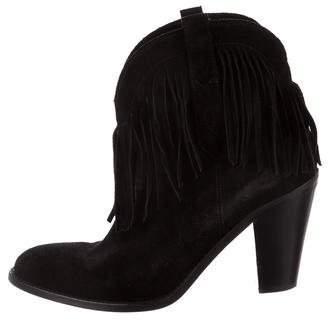 Saint Laurent Fringe Ankle Boots