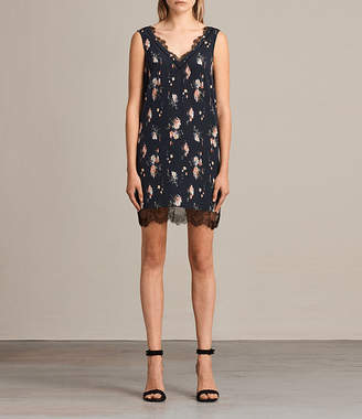 AllSaints Camia Meadow Silk Dress