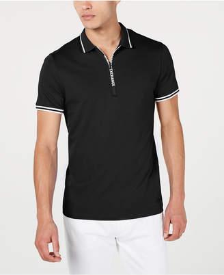 Armani Exchange Men Zipper Logo Polo