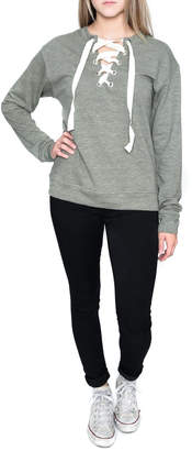 Elan International Lace Up Sweatshirt