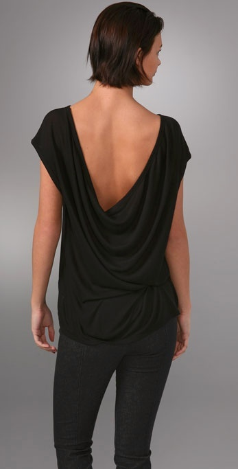 T By Alexander Wang Cowl Boat Neck Tee