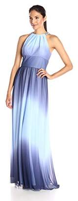 Jessica Howard Women's Beaded Halter Long Gown $86.65 thestylecure.com