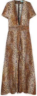 Melissa Odabash Lou Leopard-print Georgette Maxi Dress - Tan