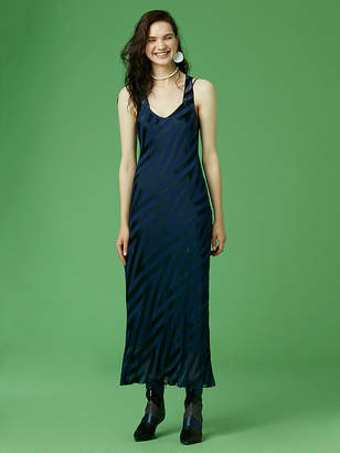 Diane von Furstenberg Scoopneck Burnout Midi Dress