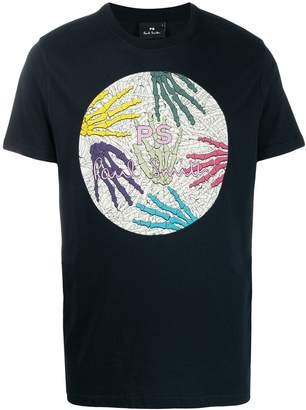 Paul Smith Skeleton Hand print T-shirt