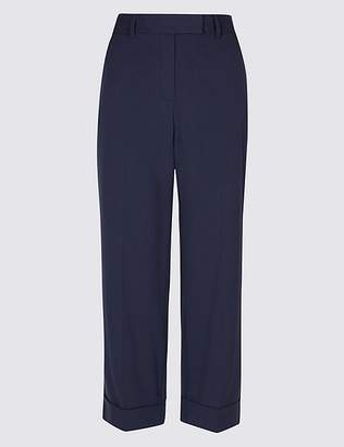 Marks and Spencer Wide Leg Ankle Grazer Trousers