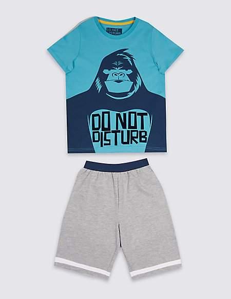Gorilla Novelty Short Pyjamas (3-16 Years)
