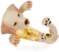 Visconti & Du Reau Labrador Retriever Plated Enamel Dog Hug Ring, Size 7