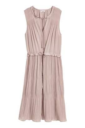 H&M Pleated Dress - Light taupe - Women