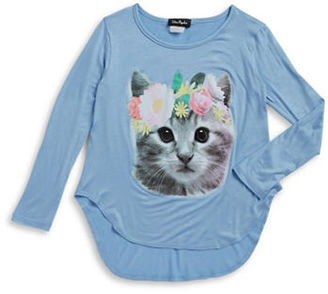 Miss Popular Girls 7-16 Girls Cat Graphic Top $22 thestylecure.com