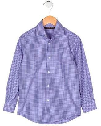 Michael Kors Boys' Plaid Button-Up Shirt