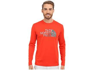 The North Face Long Sleeve Sink or Swim Rashguard (Fiery Red/Asphalt Grey Moss Print