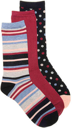 Kelly & Katie Stripes & Dots Crew Socks - 3 Pack - Women's