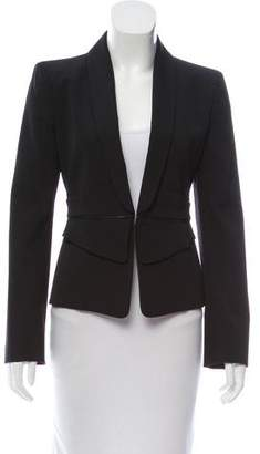 Gucci Leather-Trimmed Wool Blazer