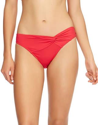 Jets Twist-Front Hipster Bikini Bottom