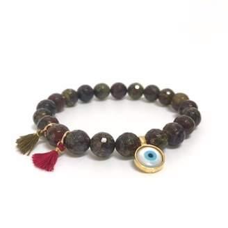 """Eye Of The Sea Evil Eye Tassels Bracelet """"Jasper"""""""