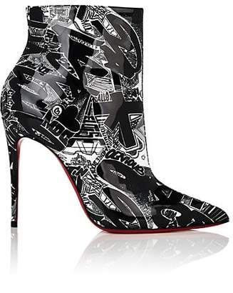 Christian Louboutin Women's So Kate Patent Leather Ankle Boots - Black