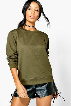 boohoo Basic Louise Crew Neck Sweat Shirt
