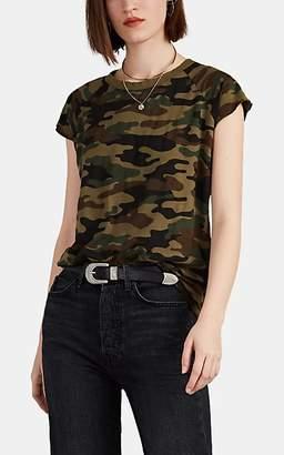 Nili Lotan Women's Camouflage Cotton Baseball T-Shirt - Green