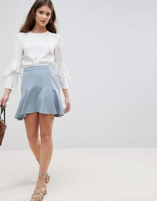 Asos Design DESIGN tailored fit and flare mini skirt