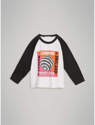 Burberry Long-sleeve Poster Graphic Cotton T-shirt