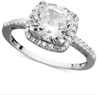 Giani Bernini Sterling Silver Ring, Cubic Zirconia Cushion Cut Pave Ring (3-3/4 ct. t.w.)