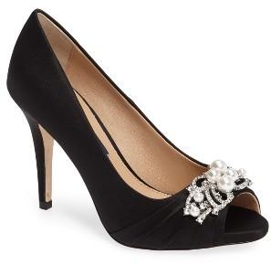 Women's Nina Ruana Swarovski Peep Toe Pump $248.95 thestylecure.com