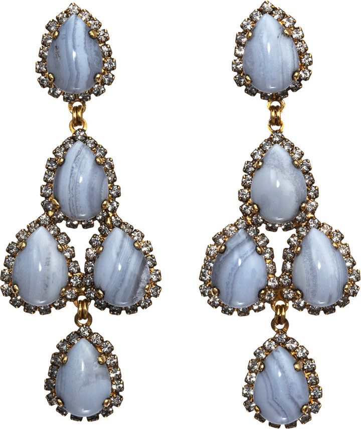 Erickson Beamon Crystal Duchess of Fabulous Chandelier Earrings