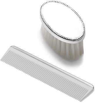 Mikasa Empire SilverTM Boys Oval Beaded Design Sterling Brush Comb Set