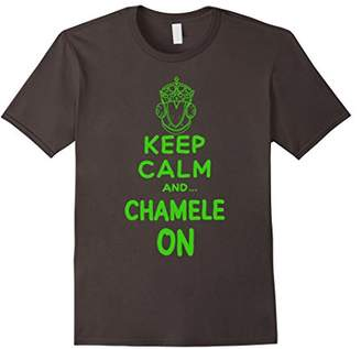 KEEP CALM : and (CHAMELEON) cute T-SHIRT