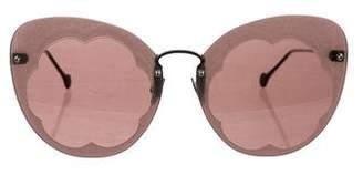 Salvatore Ferragamo Fiore Oversize Sunglasses
