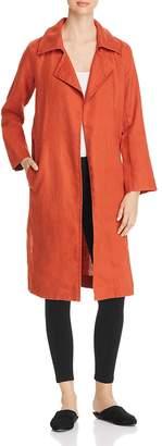Eileen Fisher Petites Organic Linen Open Trench Coat