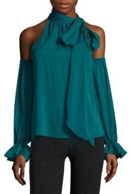 b138498ebe062b Milly Cold Shoulder Tie Top - ShopStyle